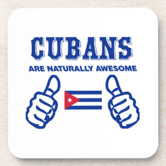 Cuban are naturally awesome beverage coaster