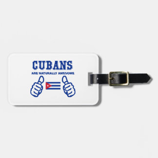 Cuban are naturally awesome travel bag tags