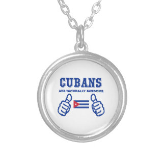 Cuban are naturally awesome round pendant necklace