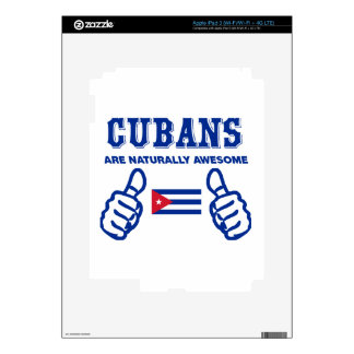 Cuban are naturally awesome iPad 3 decals