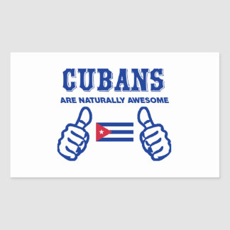 Cuban are naturally awesome rectangular sticker
