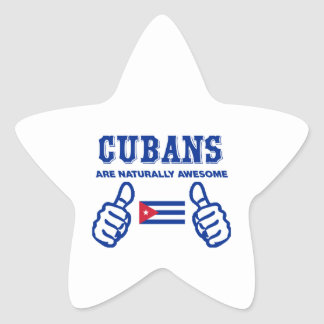 Cuban are naturally awesome star sticker
