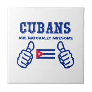 Cuban are naturally awesome small square tile