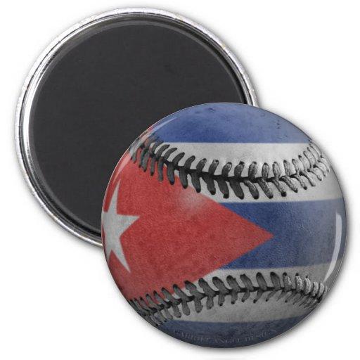 Cuban Baseball 2 Inch Round Magnet