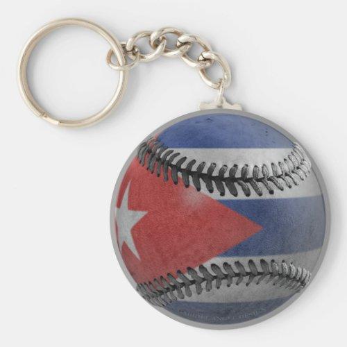 Cuban Baseball Keychain