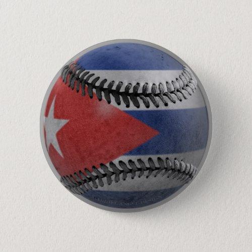 Cuban Baseball Pinback Button