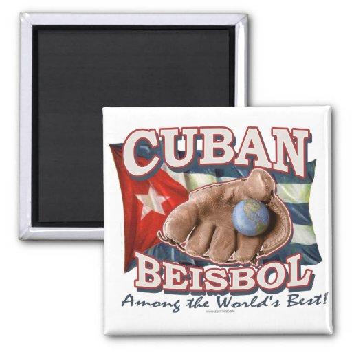 Cuban Beisbol Fan Shirts and Gift Ideas Fridge Magnets