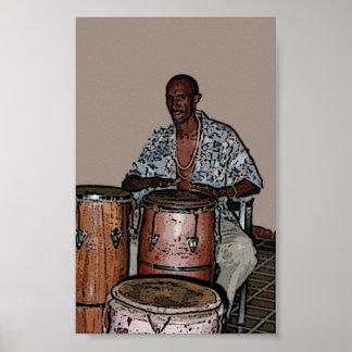 Cuban bongos poster
