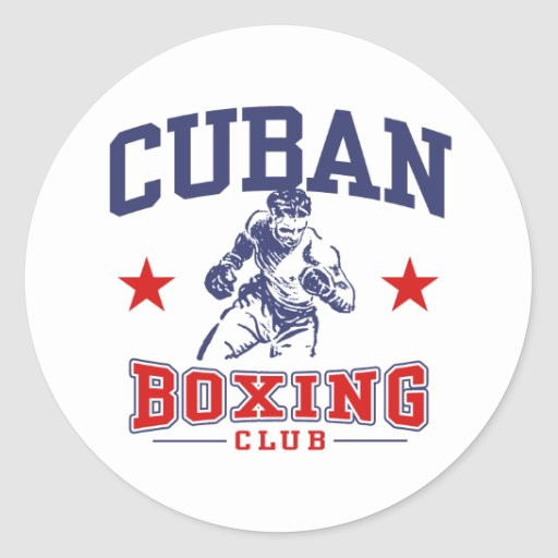 Cuban Boxing Classic Round Sticker