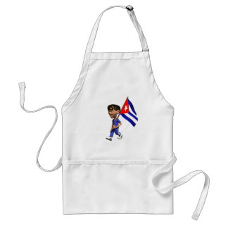 Cuban Boy Adult Apron