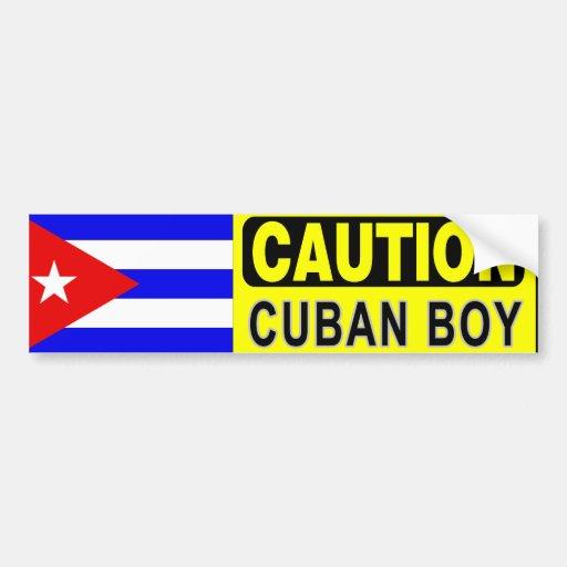 CUBAN BOY Bumper Sticker