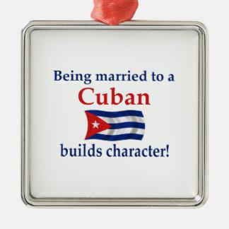 Cuban Builds Character Metal Ornament