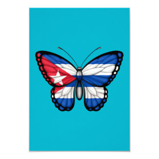 Cuban Butterfly Flag Personalized Invites