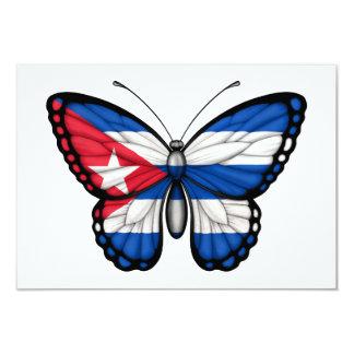 Cuban Butterfly Flag Invitation