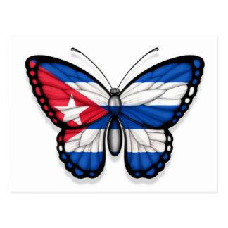 Cuban Butterfly Flag Postcard