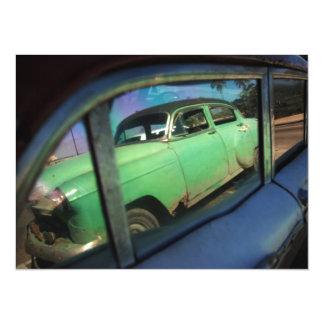 Cuban car reflection card