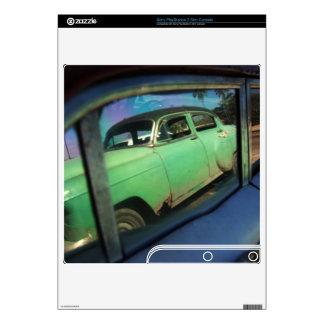 Cuban car reflection PS3 slim decals