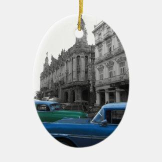 Cuban Cars 1 Ceramic Ornament