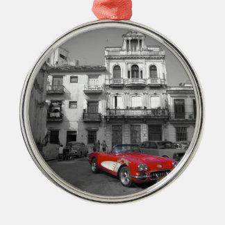 Cuban Cars 3 Metal Ornament