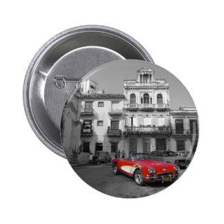 Cuban Cars 3 Pinback Button