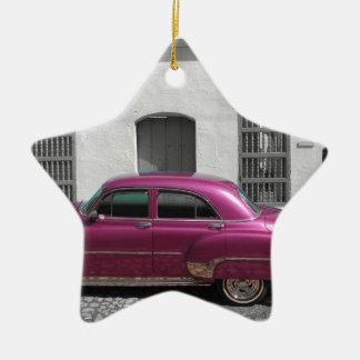 Cuban Cars 4 Ceramic Ornament