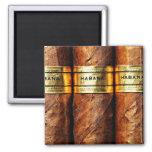 Cuban Cigar Habana Square Magnet