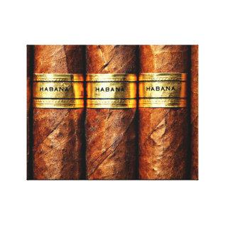 Cuban Cigar Habana Wrapped Canvas at Zazzle