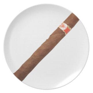 Cuban Cigar Dinner Plates