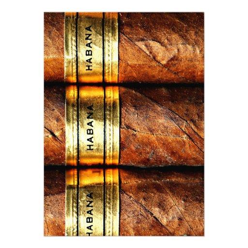 Cuban Cigars Habana Invitation Custom Announcement