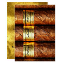Cuban Cigars Habana Invitation Gold Formal