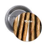 Cuban Cigars Pinback Buttons