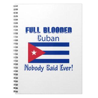 Cuban citizen design spiral notebook