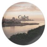 Cuban Cityscape Dinner Plate