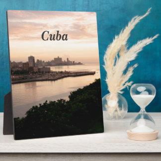 Cuban Cityscape Photo Plaque