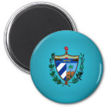 Cuban coat of arms 2 inch round magnet