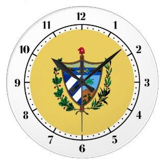 Cuban coat of arms large clock