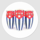 Cuban Congas Classic Round Sticker
