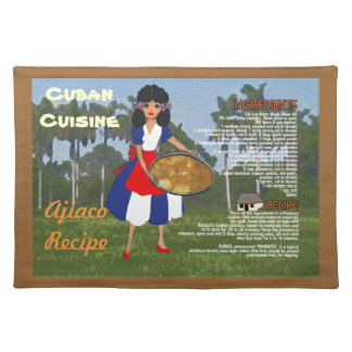 Cuban Cuisine Ajiaco Recipe Placemat