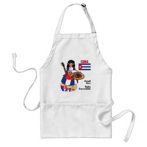 Cuban Cuisine Aprons-Oxtail Stew/Rabo Encendido