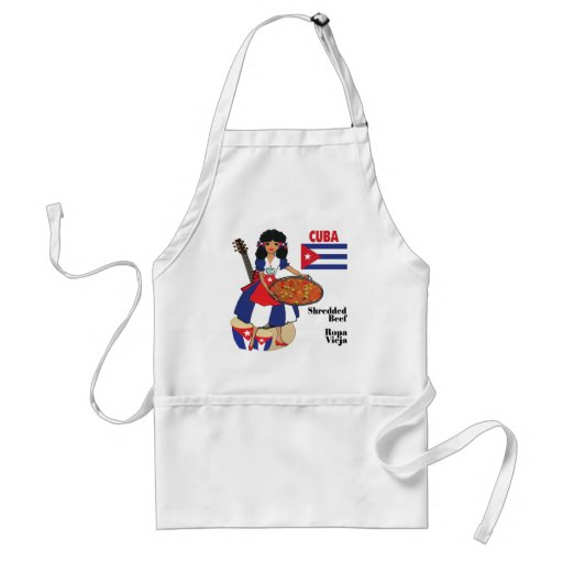 Cuban Cuisine Aprons-Shredded Beef/Ropa Vieja