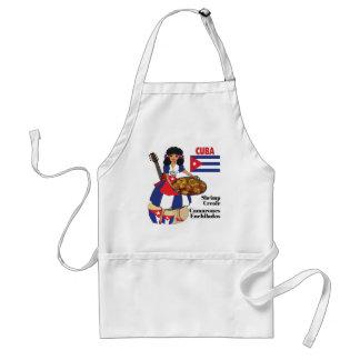 Cuban Cuisine Aprons-Shrimp Creole Adult Apron