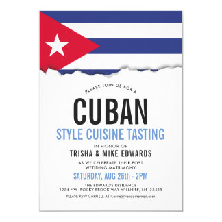 Cuban Cuisine | Party Flag Invite