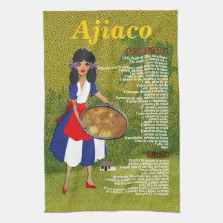 Cuban Cuisine Recipe Kitchen Towel - Ajiaco Receta
