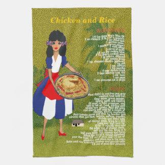 Cuban Cuisine Recipe Kitchen Towel-Chicken & Rice