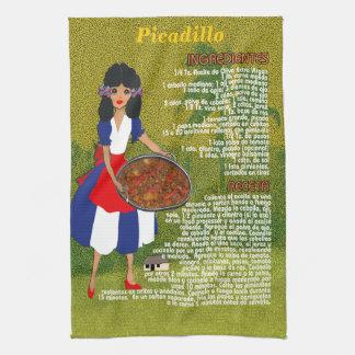 Cuban Cuisine Recipe Kitchen Towel-Picadillo