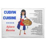 Cuban Cuisine Recipe Placemat - Ajiaco