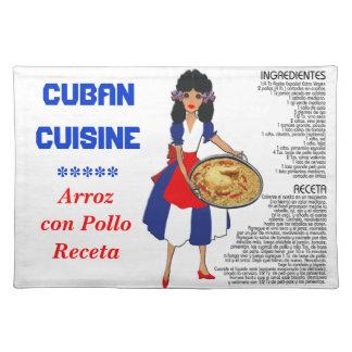 Cuban Cuisine Recipe Placemat - Arroz con Pollo