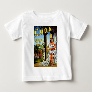 Cuban Dancer Vintage Travel Baby T-Shirt