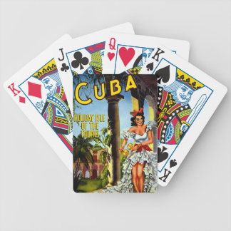 Cuban Dancer Vintage Travel Bicycle Playing Cards