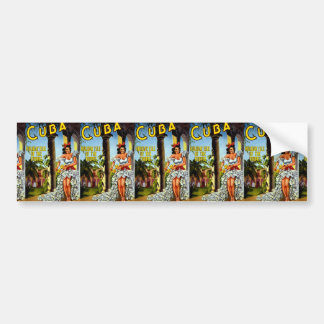 Cuban Dancer Vintage Travel Bumper Sticker